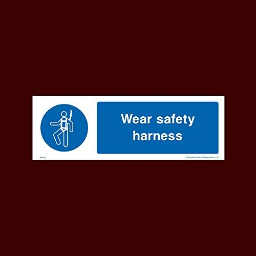Wear Safety Harness Sign Stickers Self Adhesive Vinly Warning Stickers Lable (Mmg15) - Rubbish, Machinery, Harness, Guards, Horn, Stack