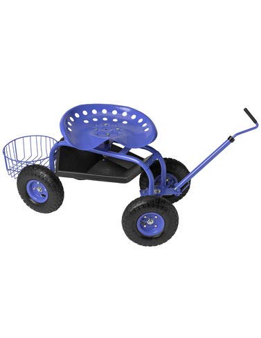 (Gardener's Supply Company Deluxe Tractor Scoot with Bucket Basket)