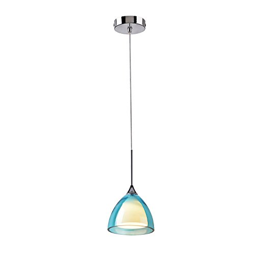 Small Blue Glass Pendant Lights - 2