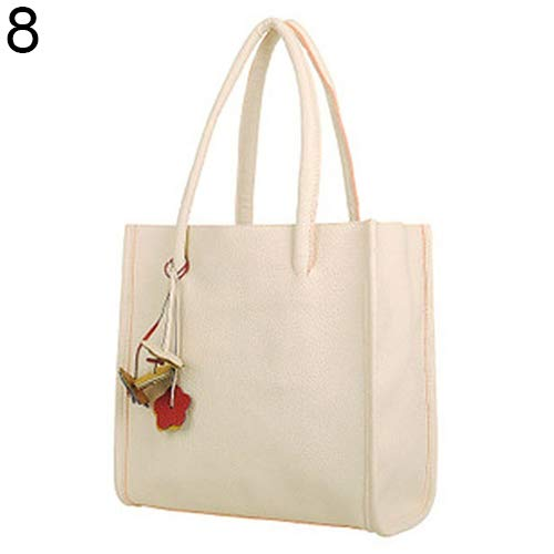 Handbag Bag Candy Colors Sale Women's Faux Zipper Clearance Bangle009 White Brown Leather Sweet Shoulder Flowers PqfI7xwx
