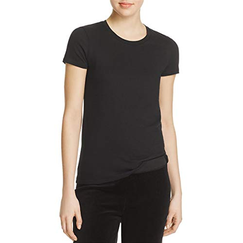 Juicy Couture Womens Rhinestone Embellished Logo T-Shirt Black L (Ladies Black T-shirt Logo Rhinestone)