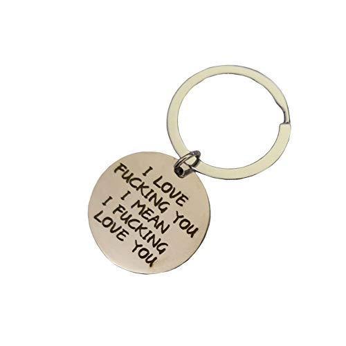 Couples Gifts Keychain, Gift for Boyfriend Girlfriend, I Love Fucking You Keyring Valentines Day Christmas Gifts for Husband Wife