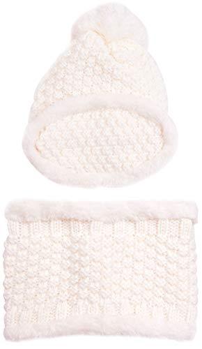 ORSKY Women's Knit Beanie Scarf Mask Set Soft Fleece Lined Winter Warm -