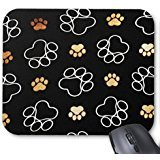 Generic Dog Puppy Paw Prints Gifts for Dog Lovers Mouse Pad