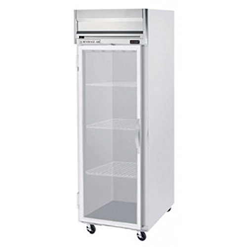 Beverage-Air HFP1-1G Horizon Series One Section Glass Door Reach-In Freezer 24 cu.ft. capacity Stainless Steel Front and Sides Aluminum