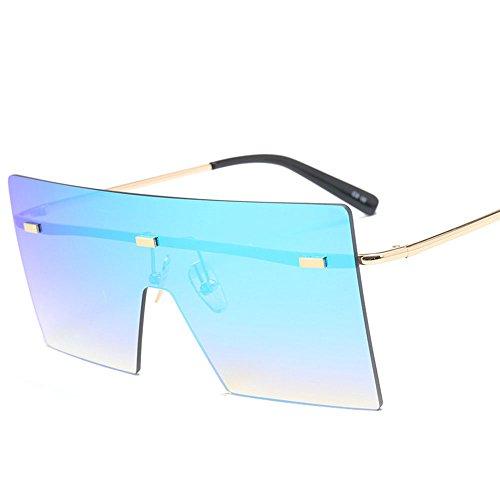 Playa Blue Sol Square AWYILUFA Fashion De Señoras Gafas Los De Unisex Viajar Lente De Gafas UV400 para Hombres Las Moda De Pesca EE1rwqP7H