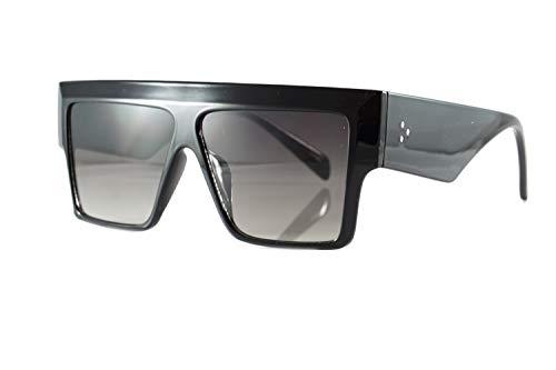 FBL Mega Size Flat Top Bold Square Frame Sunglasses A263 (Black ()