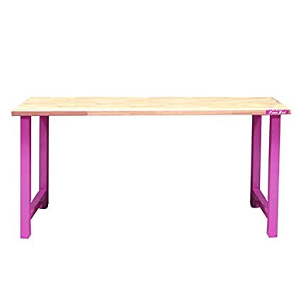 the original pink box pb7226wt workbench with wood work surface and rh amazon com