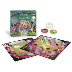 Disney Fairies Checkers/Tic-Tac-Toe Combo Game - Checkers Disney Fairies