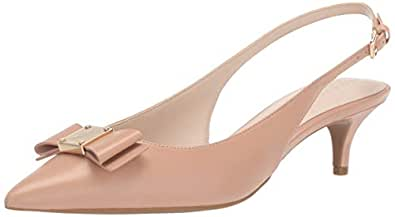 Cole Haan Women's TALI Bow Sling Pump, ch nude leather 5 B US
