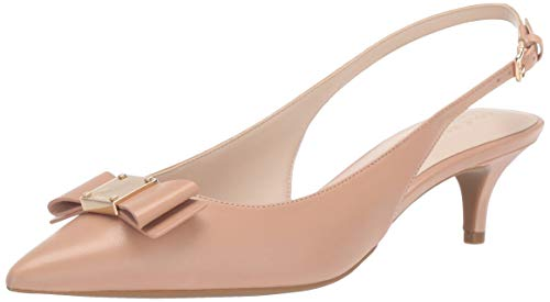 Cole Haan Women's TALI Bow Sling Pump ch Nude Leather 7.5 B US