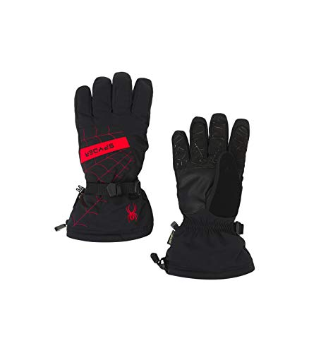 Spyder Active Sports Men's Overweb Gore-tex Ski Glove, Black/Red, Large