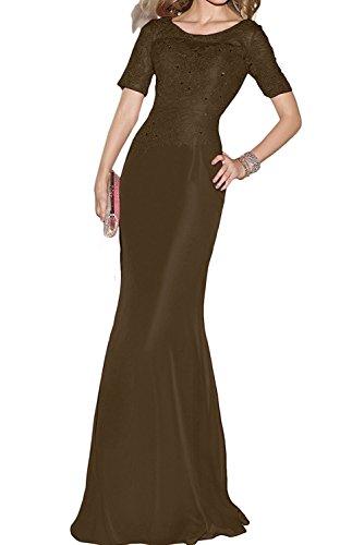 Damen Schnitt Braut Schmaler mia Langes Schwarz Festlichkleider Braun Spitze Partykleider Abendkleider Brautmutterkleider La 1OntPxqw