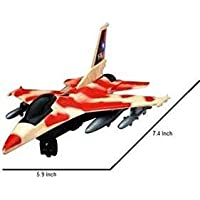 Siddhi Vinayak™ Push and Go Friction Fighter Jet Aeroplane Toy for Boys and Girls (Random) Color Will be Sent