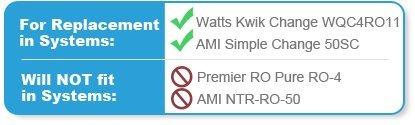 Watts Kwik Change 11 RO Replacement Water Filter Kit - Kwik Kit