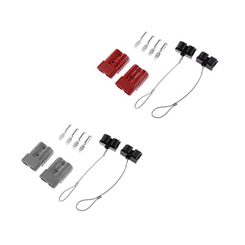 B Baosity Battery Trailer Pair Charge - Plug Quick Connector Kit, Connect/Disconnect Winch, Power Wire Cables Connector - Grey and Red: