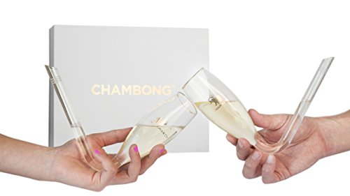 The Chambong - Hand-blown Champagne Shooters, 6 oz. - Bachelorette Party Gift - Perfect For Parties (2 Pack)