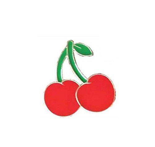 Fishroll smalto spilla a forma di ciliegia per vestiti borse zaini spilla per le donne