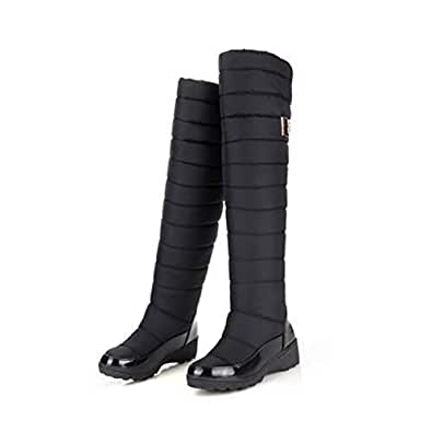 Amazon.com | Russia Keep Warm Snow Boots Fashion Platform