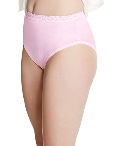 Just My Size Women's 4 Pack Nylon Brief Panty(34/36) size 14,Assorted