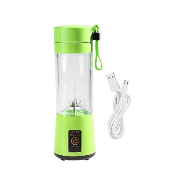 Zerone Portable Juicer, 350-400ML Frullatore estrattore di succo di frutta ricaricabile Plactic USB ricaricabile(verde) 1 spesavip