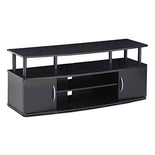 (Furinno Jaya Large Entertainment Center Hold up to 50-in TV, 15113BKW)