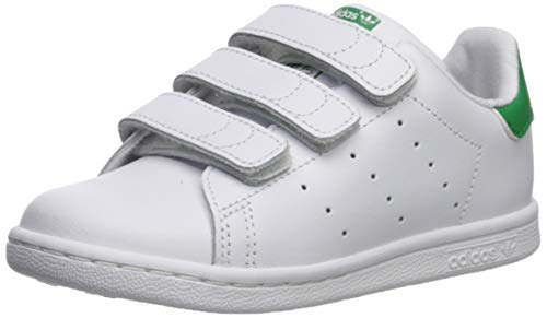 adidas Originals Baby Stan Smith CF I Running Shoe, White/Green, 5 M US Infant