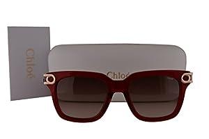 Chloe CE678S Cate Sunglasses Crystal Burgundy w/Brown Gradient Lens 623 CE 678S