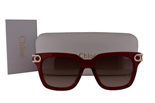Burgundy Gradient Lens (Chloe CE678S Cate Sunglasses Crystal Burgundy w/Brown Gradient Lens 623 CE 678S)