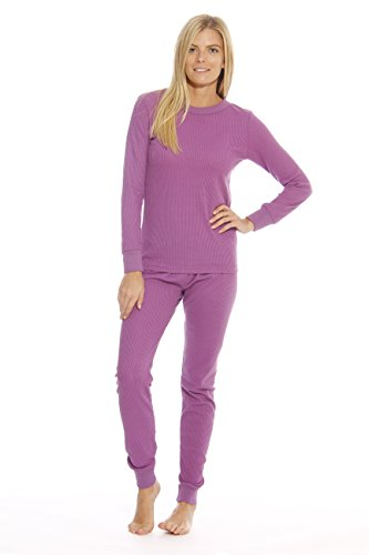 Just Love 95862-Purple-M Women's Thermal Underwear Set/Base Layer Thermals