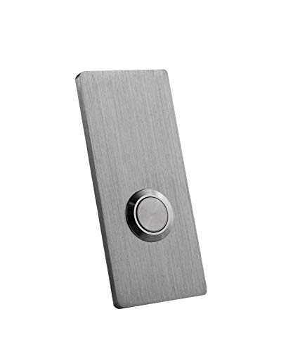 "Modern Stainless Hardware Model R2 Stainless Steel Doorbell Button in 304 Stainless Steel 1.37"" x 3.14"" x 5/32"" (4mm thick) by Modern Stainless Hardware (Image #1)"
