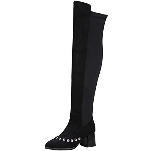 TAOFFEN Women Fashion Block High Heel B07HTDRPKX Over The Knee Boots B07HTDRPKX Heel Shoes 3ca4bc