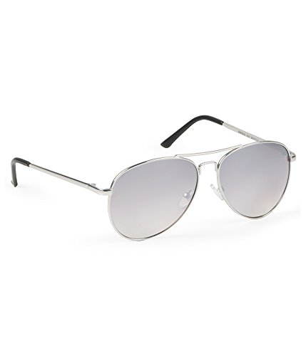 Aeropostale Men's Mirrored Metallic Aviator Sunglasses Silver - Sunglasses Aeropostale