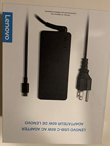 Lenovo P/N: GX20P92530 65W USB-Type C AC Adapter for Lenovo Yoga C930-13, Yoga 920-13, Yoga 730-13, IdeaPad 730s-13 - Retail Box.