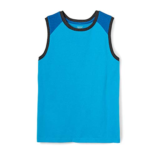 (French Toast Boys' Little Sleeveless Muscle Tee, Turquoise Sea, 4)