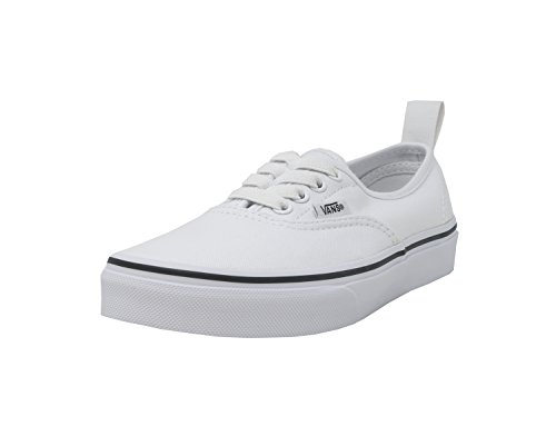 Vans Kids Authentic Elastic Skate Shoes, White, Size 2.5 M Us Little Kid