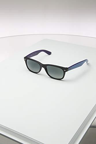 Ray-Ban RB2132 New Wayfarer Sunglasses, Matte Black/Grey Gradient, 55 ()