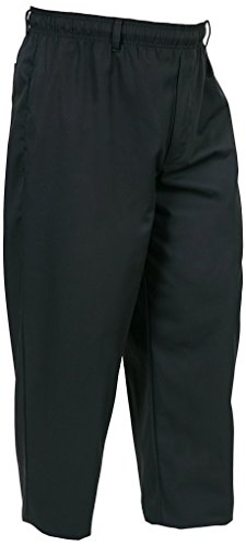 Mercer Culinary M60050BKL Millennia Men's Cook Pants, Large, Black by Mercer Culinary