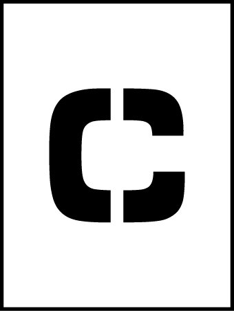 NMC PMC36-C 36''Stencil Letter ''C'', Pack of 5 pcs by National Marker
