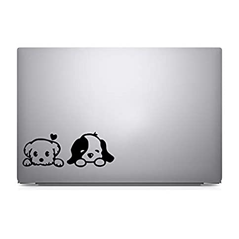- 315O6i7xe6L - Furivy 1Puppy Dog – Apple MacBook Air/Pro/Retina 13″ Laptop Sticker Decal Notebook Car (Black)
