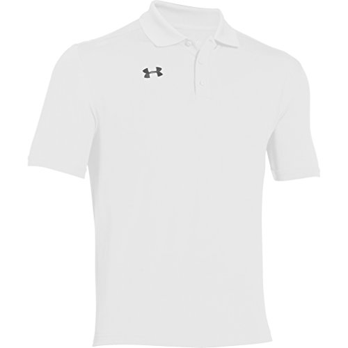 Under Armour Team Armour Men's Golf Polo (White, Large)
