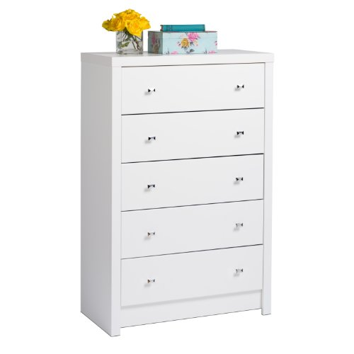 Prepac WDBR-0550-1 White Calla 5-Drawer Chest, King, ()