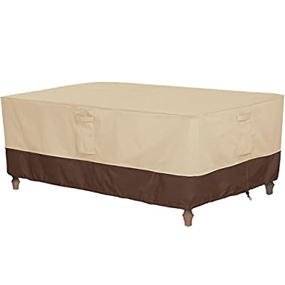 Vailge Veranda Rectangular/Oval Patio Table Cover, Heavy Duty and Waterproof Outdoor Lawn Patio Furniture Covers