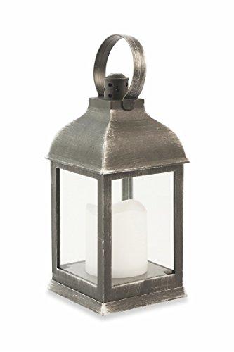 Galileo Casa 2418968 Farol Antiguo Cuadrado a Cúpula LED, Negro, 10.5 x 10.5 x