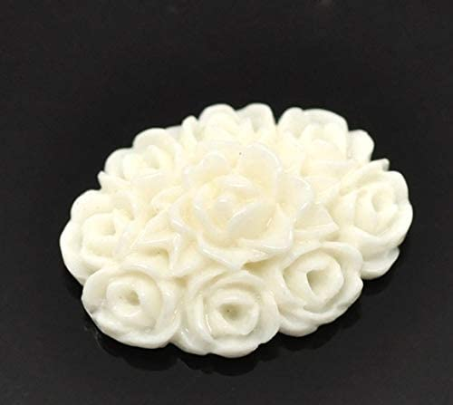 KABITA115-50Pcs Mixed Flower Resin Beads Decoration Crafts Flatback Cabochon Scrapbooking Fit Phone Embellishments Diy Accessories - Beige