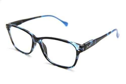 ColorViper Basic Hand Made everyday Designer Reader (mediu size: blue tortoise / blue tips, - Blue Color Tortoise