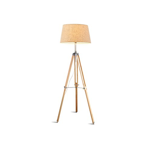 Adjustable Tripod Lamp Modern Design Wood Lighting for Family Rooms Ambient Light Tall Standing Survey Floor Lamp