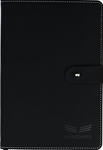 """Mens Agenda (Universal Daily Agenda Planner Notebook Organizer Undated 8.3""""x5.8"""" and Sticky Notes included in 1 of 2 lucky packages, time saving and increased productivity by Vaonshops)"""