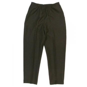 Alfred Dunner Classics Elastic Waist Pants Black 20W M