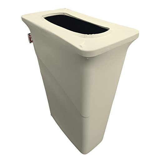 L.A. Linen Stretch Spandex Trash Can Cover for Slim Jim 2...